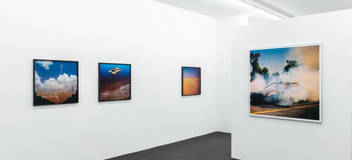 »Daniel Tchetchik: Sunburn«. Installationsansicht | Exhibition view Kehrer Galerie, 2016.