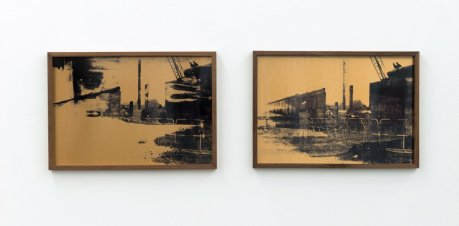 Steffi Klenz: »He only feels the black and white of it«, 2016, Installationsansicht   Exhibition view Kehrer Galerie, 2017.