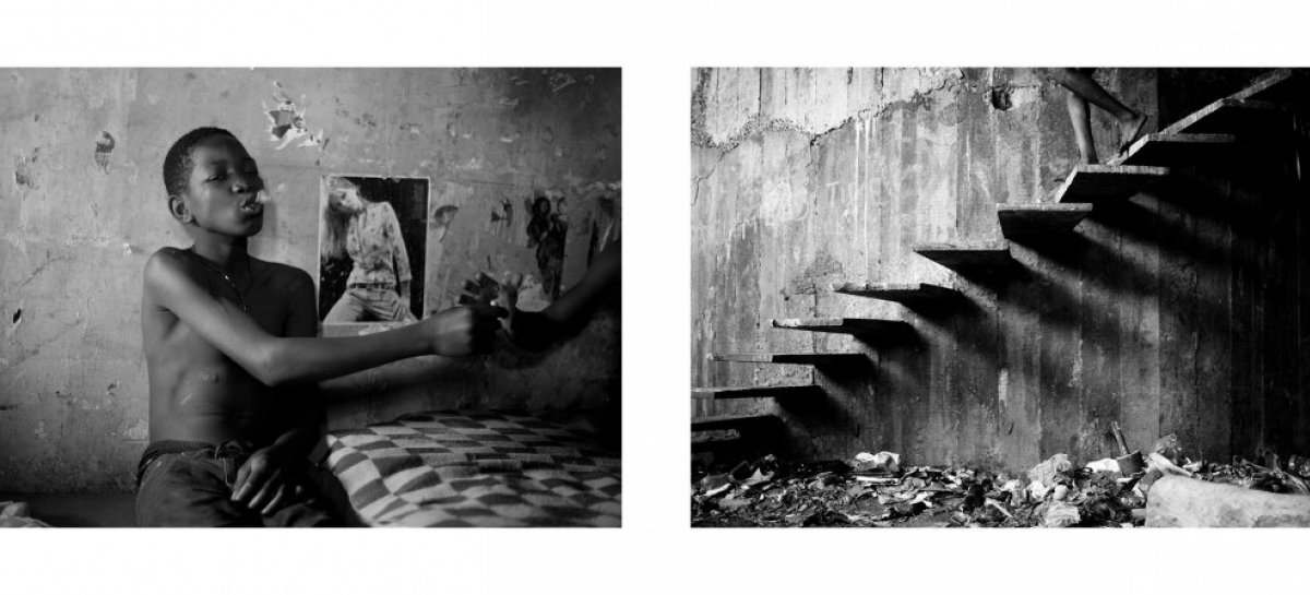 Mário Macilau: »Enjoyment« & »Stairs of shadows«, from the series »Growing in Darkness«, 2012-2015