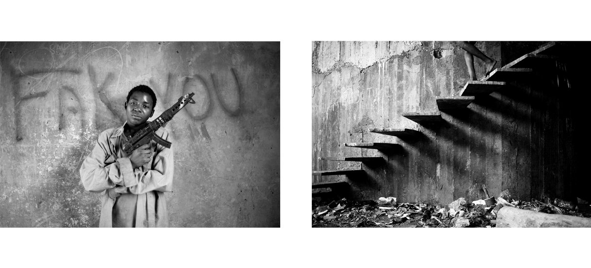 Mário Macilau: »Fak you« & »Stairs of shadows«, from the series »Growing in Darkness«, 2012-2015